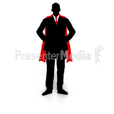 Business Guy Super Hero Presentation clipart