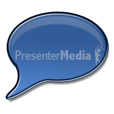 Shiny Answer or Speech Bubble  Presentation clipart