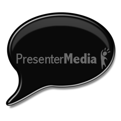 Black Answer or Speech Bubble  Presentation clipart