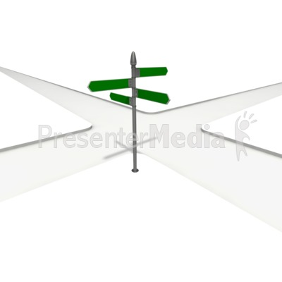 Intersection Street Sign Presentation clipart