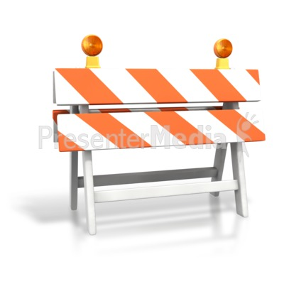 Construction Roadblock Presentation clipart