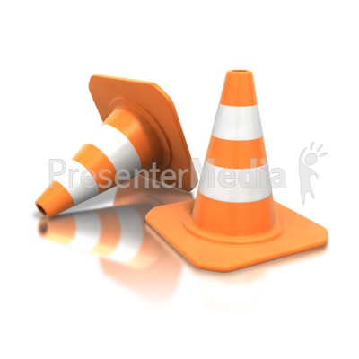 Construction Cone Pair Presentation clipart