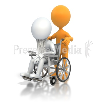 Old Person Wheelchair Presentation clipart