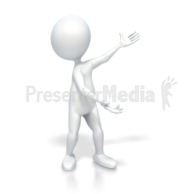 Stick Figure Highlight Something Presentation clipart
