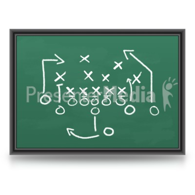 Game Plan Chalkboard Presentation clipart