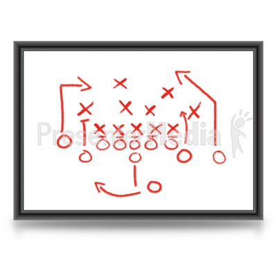 Game Plan Whiteboard Presentation clipart