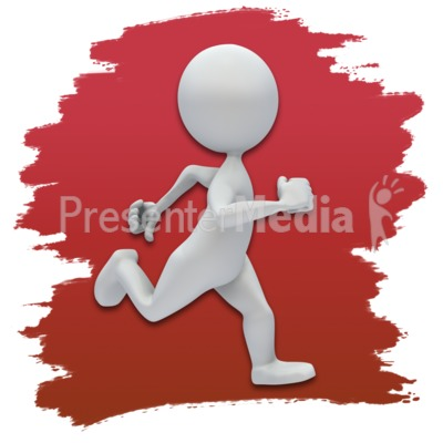 Stick Figure Running Icon Presentation clipart