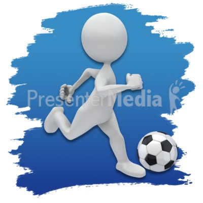 Stick Figure Soccer Icon Presentation clipart