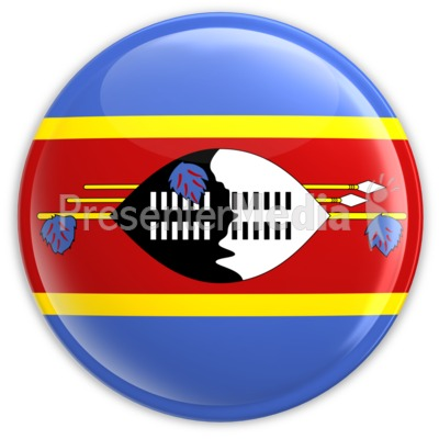 Swaziland Flag Button Presentation clipart