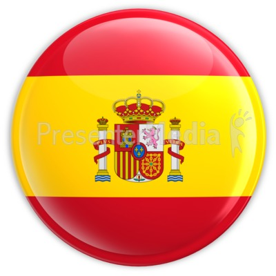 Spain Flag Button Presentation clipart