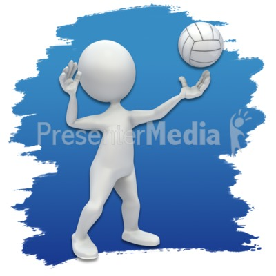Stick Figure Volleyball Icon Presentation clipart