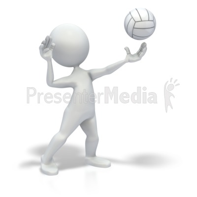 Stick Figure Serve Volleyball Presentation clipart