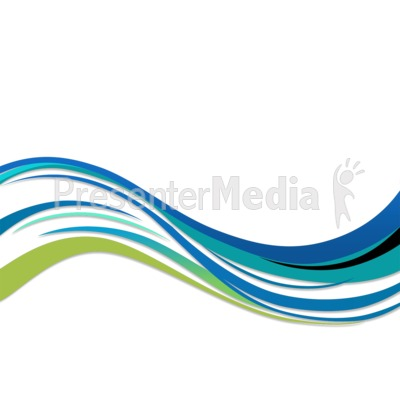 Blue and Green Swoosh  Presentation clipart