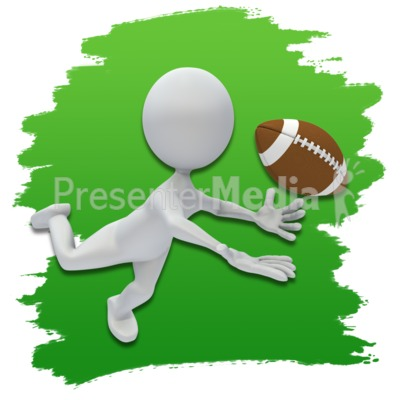 Stick Figure Football Icon Presentation clipart