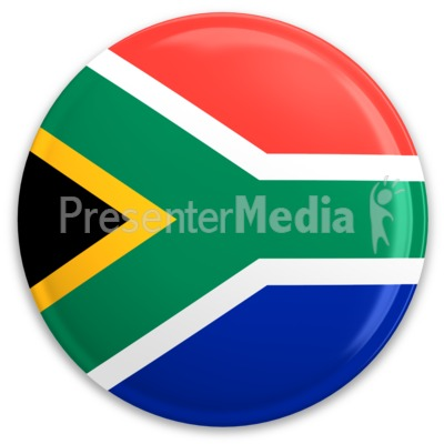 South Africa Flag Button Presentation clipart