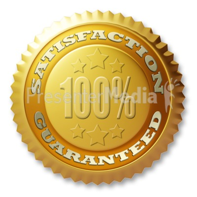 Gold Seal Satisfaction Guaranteed Presentation clipart