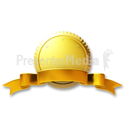 Gold Seal Gold Ribbon Presentation clipart