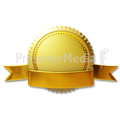 Gold Seal Ribbon Presentation clipart