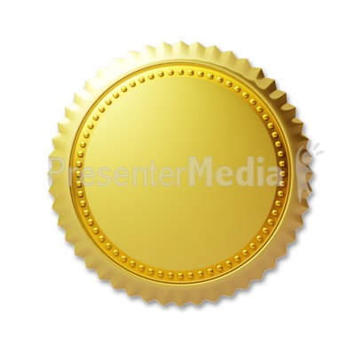 Simple Gold Seal Presentation clipart