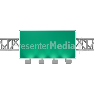 Overhead Freeway Sign Presentation clipart