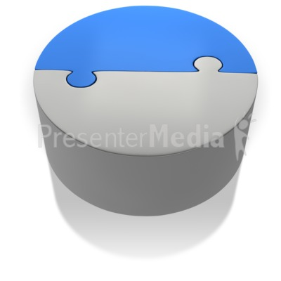 Puzzle Pie Chart Two Halfs Presentation clipart