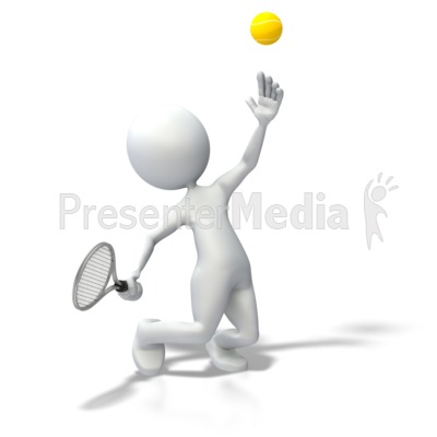Stick Figure Tennis Serve Presentation clipart