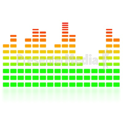 Music Equalizer Graph Presentation clipart
