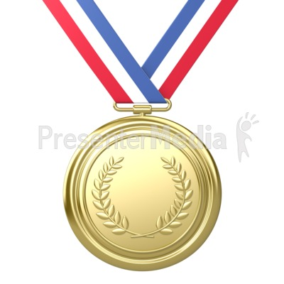 Gold Medal Award First Place Presentation clipart