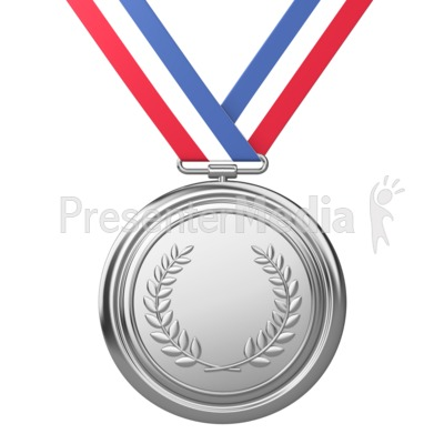Silver Medal Award Second Place Presentation clipart