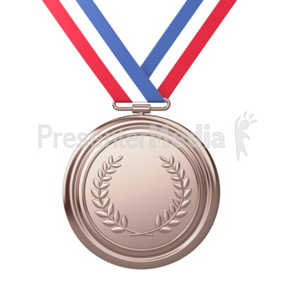 Bronze Medal Award Third Place Presentation clipart