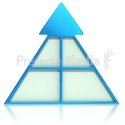 Sectional Arrow Pyramid  Presentation clipart