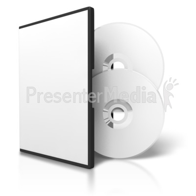 Two Dvds And Blank Case Presentation clipart