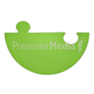 Green Puzzle Piece Half Presentation clipart