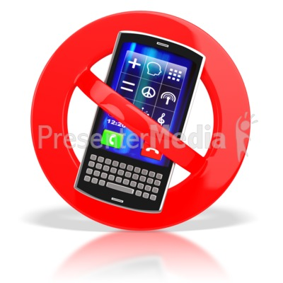 No Cell Phones  Presentation clipart