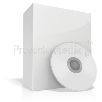White Box With Cd Presentation clipart