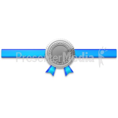 Silver Seal Horiztonal Ribbon Presentation clipart
