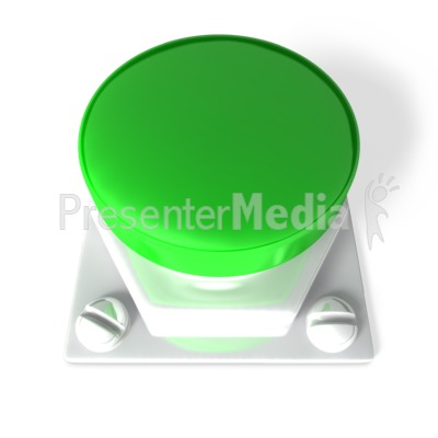 Green Blank Button Presentation clipart