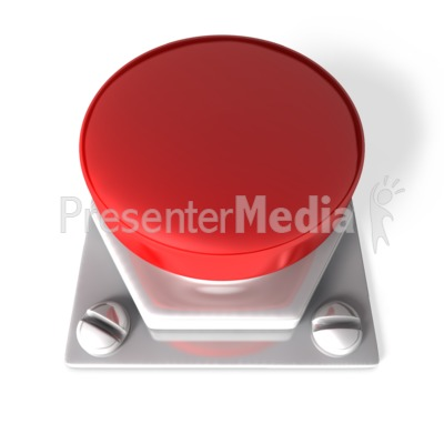 Red Blank Button Presentation clipart