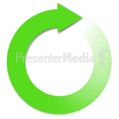 Green Reuse Arrow Presentation clipart
