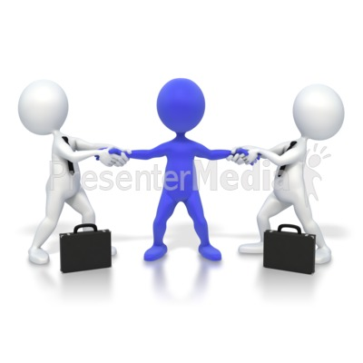 Fight Over Customer Presentation clipart