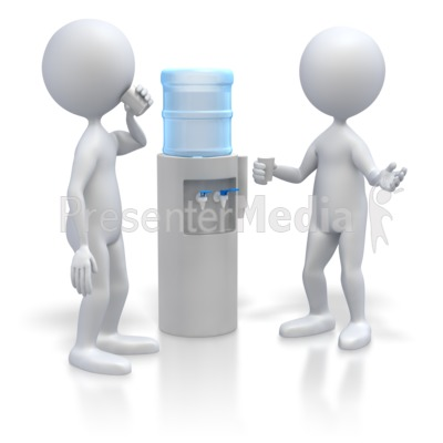 Stick Figures At Water Cooler  Presentation clipart