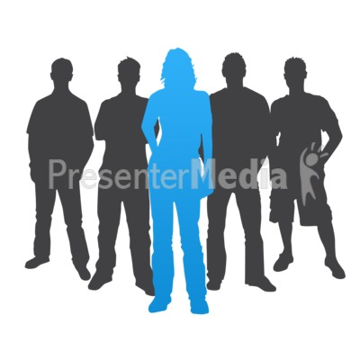 Woman Leader Casual Silhouette Presentation clipart