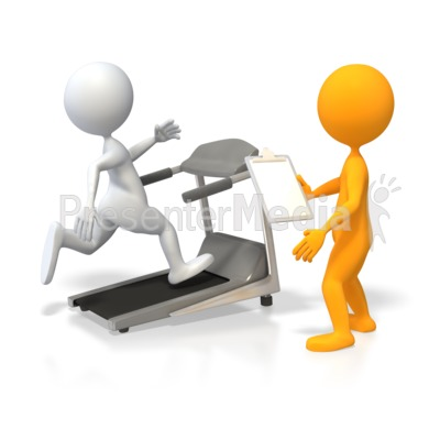 Training Runner on Treadmill Presentation clipart