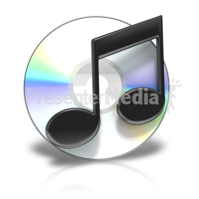 Cd Music Symbol Presentation clipart