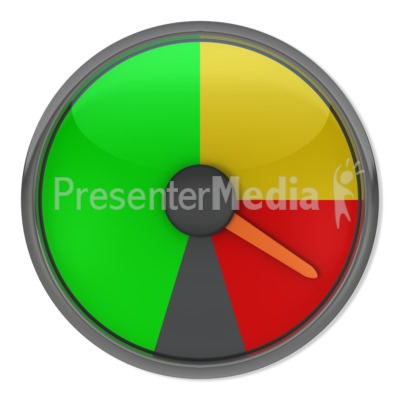 Red Gauge Indicator Presentation clipart