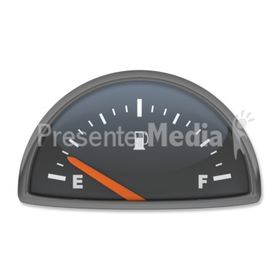 Fuel Gauge Empty Presentation clipart