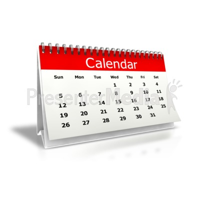 Desk Calendar Month Presentation clipart