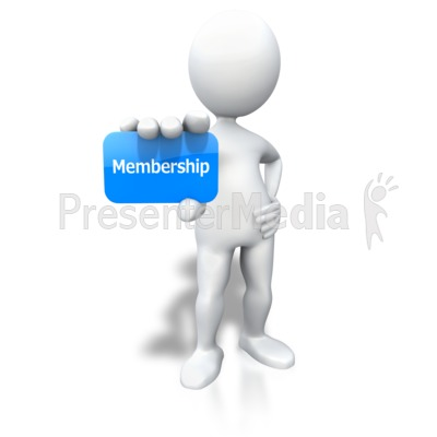 Stick Figure Holding Membership Card Presentation clipart