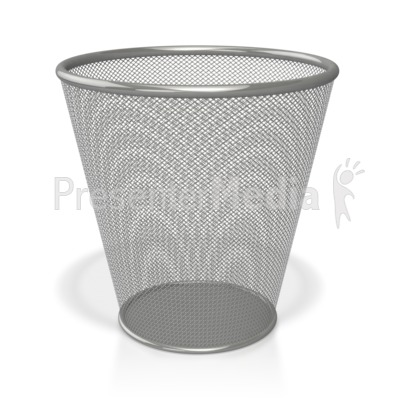 Empty Waste Basket Presentation clipart