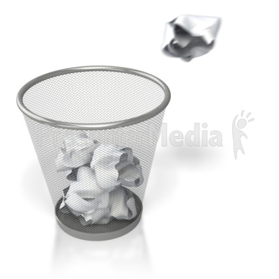 Throwing Paper in Trash Presentation clipart